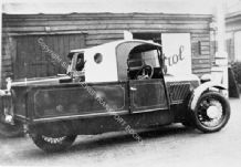 Morgan works 3 wheeler Pick-Up truck at Brooklands circa 1930.